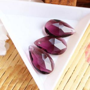 Necklace pendants, Crystal, purple, 22mm x 13mm x 7mm, 1 pieces, [SSL097]
